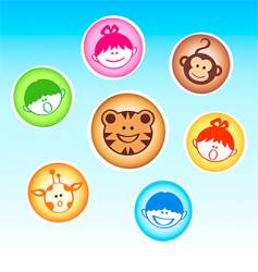 zoo kids and animals vector image vector image