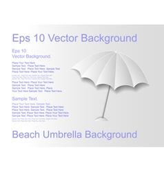 Beach umbrella on a light background vector