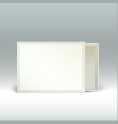 Blank matchbox standing on the edge isolated vector image vector image