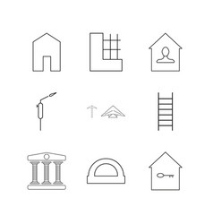 buildings construction and industry linear icon vector image