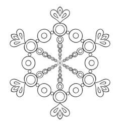 paper cutout snow flake in zentangle style doodle vector image vector image