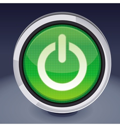 power button - abstract design element vector image