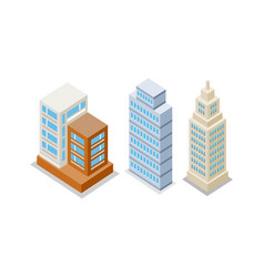 set of modern apartment buildings vector image
