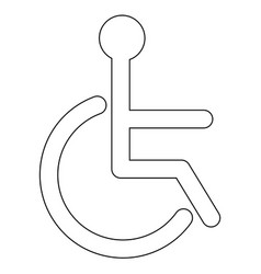 Sign of the disabled the black color icon vector