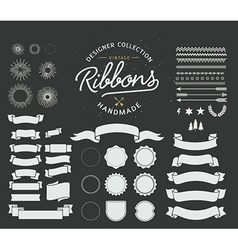 Starbursts frames and ribbons vector image vector image