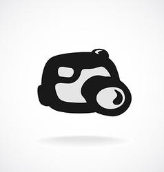 Digital camera logo Cartoon shapes style vector image