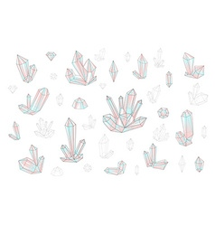 Set 18 fashion brightly colored diamonds hipster vector image vector image