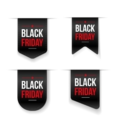 Black Friday ribbon tag set vector image
