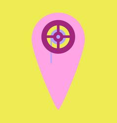 flat icon pointer cinema vector image