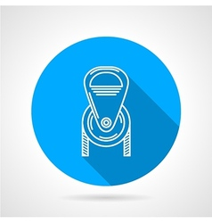 Flat round icon for pulley vector image vector image