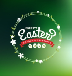Happy Easter 2016 Lettering Greeting Card vector image vector image