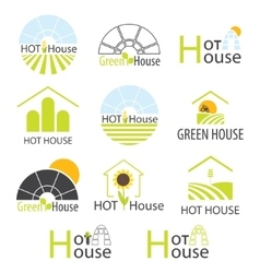 Hothouse Hothouses collection vector image