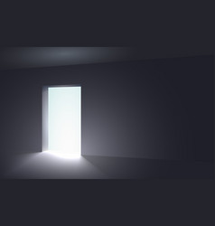 light in a dark room vector image