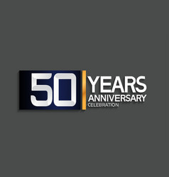 50 years anniversary logotype with blue vector