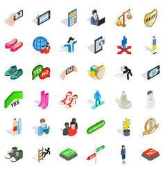 avatar icons set isometric style vector image vector image