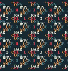 Barcelona seamless pattern vector
