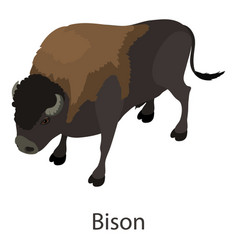 Bison icon isometric style vector