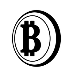 Bit coin isolated icon vector