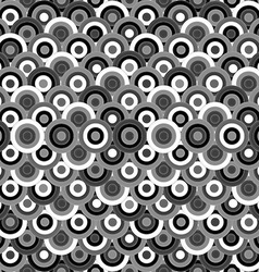 Black and white seamless with round ornaments vector image