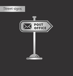 black and white style icon sign post office vector image