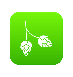 branch of hops icon digital green vector image