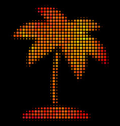 bright dotted island tropic palm icon vector image