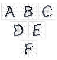 Broken letters alphabet vector