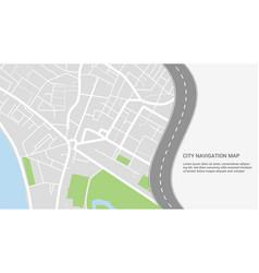 city navigation colorful concept vector image