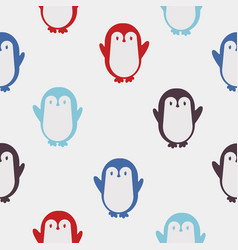 colorful penguin pattern vector image