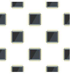 Computer microchip pattern flat vector