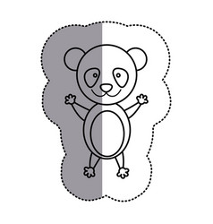 contour teddy bear icon vector image