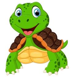 Cute turtle cartoon posing vector image