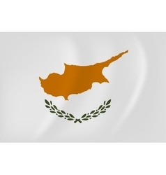 Cyprus waving flag vector image