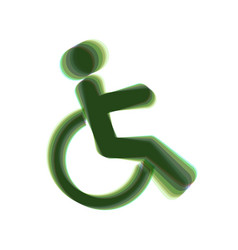 Disabled sign colorful icon vector