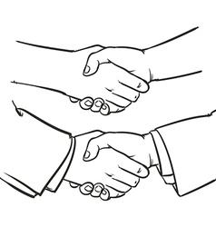 Drawing Handshake outline hand clip art vector