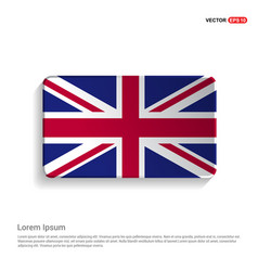 england flag design vector image