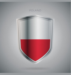 Europe flags series poland modern icon vector