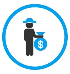 Gentleman Investor Rounded Icon vector image