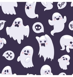 Ghost characters pattern vector