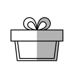 Gift box ribbon parcel surprise shadow vector