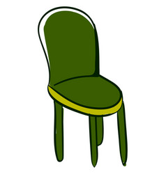 green kitchen chair on white background vector image