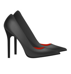High heeled shoe stiletto pumps in black vector