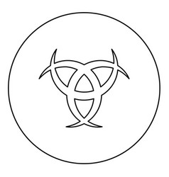 horn odin triple horn odin icon in circle vector image
