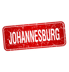 Johannesburg red stamp vector