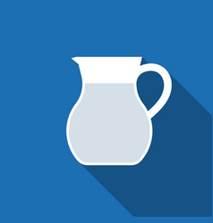 Jug glass of water icon vector