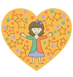 kids heart3 vector image