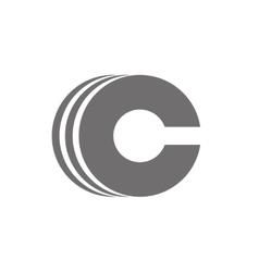 Letter C Logo Concept Icon vector image
