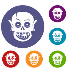 Living dead icons set vector
