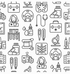 Medicine seamless pattern vector