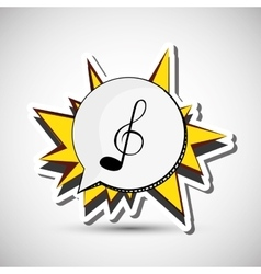 Music icon Retro concept Flat vector